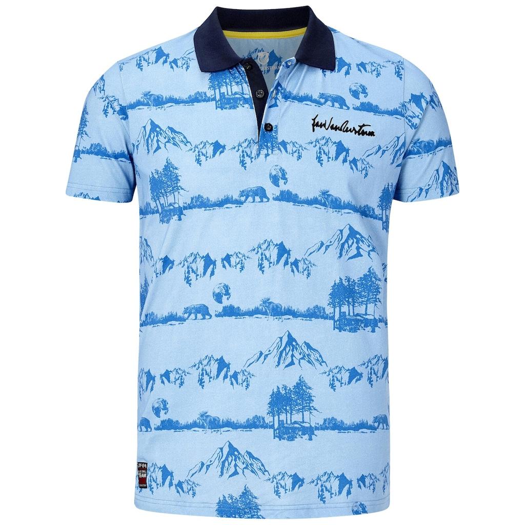 Jan Vanderstorm Poloshirt »OTHIN«, alpines Allover-Print