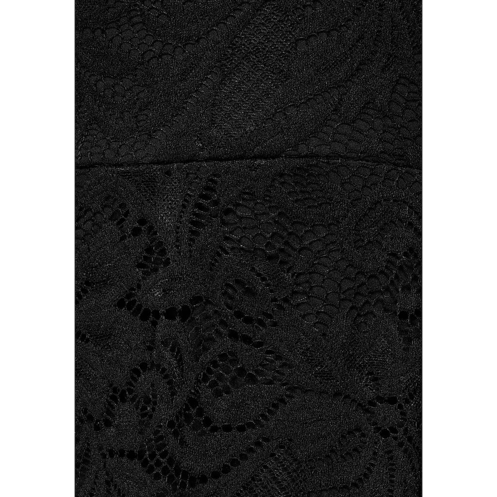 Melrose Spitzenkleid, mit tiefem V-Ausschnitt