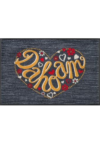 wash+dry by Kleen-Tex Fußmatte »Dahoam«, rechteckig, 7 mm Höhe, Schmutzfangmatte, mit... kaufen