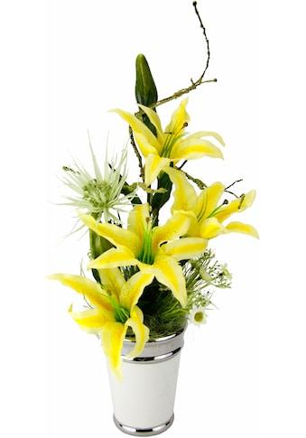 I.GE.A. Kunstpflanze »Arrangement Lilien in Topf« kaufen