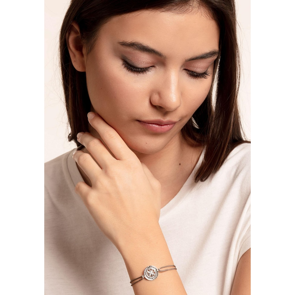 THOMAS SABO Armband »Little Secret Kompass Glaube, Liebe, Hoffnung, LS078-401-5-L20v«, mit Zirkonia