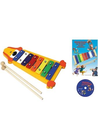 Clifton Spielzeug-Musikinstrument »Metallophon Hund«, mit 8 Tönen und Kinderlieder CD,... kaufen