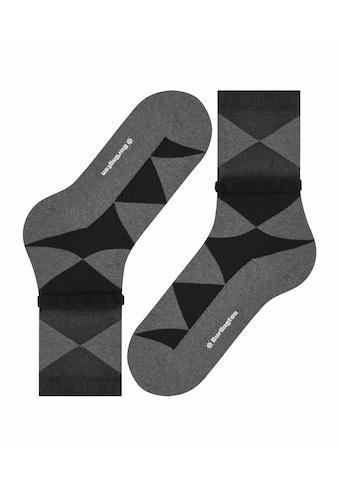Burlington Socken »Chic Argyle«, (1 Paar), mit zweifarbigem Rautenmuster kaufen