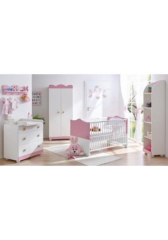 Ticaa Babyzimmer-Komplettset »Prinz/Prinzessin«, (Set, 5 St.), Bett + Wickelkommode +... kaufen