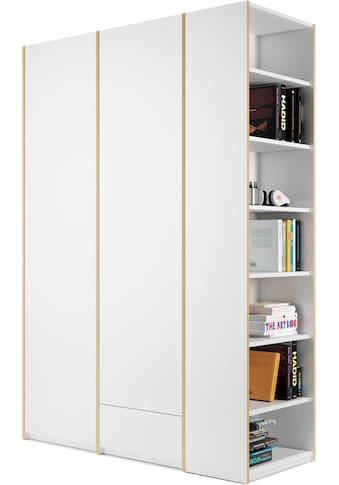 Müller SMALL LIVING Kleiderschrank »Modular Plus Variante 2«, inklusive 1 kleinen Schublade im rechten Schrankteil, Anbauregal wahlweise links oder rechts montierbar kaufen