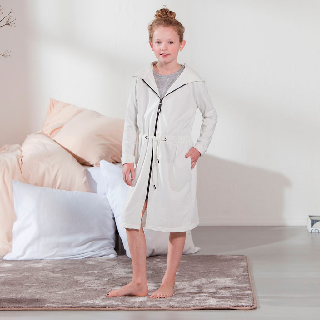 Seahorse Kinderbademantel »Taylor«, in meliertem Uni-Look