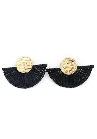 J.Jayz Paar Ohrclips »mit Struktur, in Fächer-Optik, vergoldet« kaufen