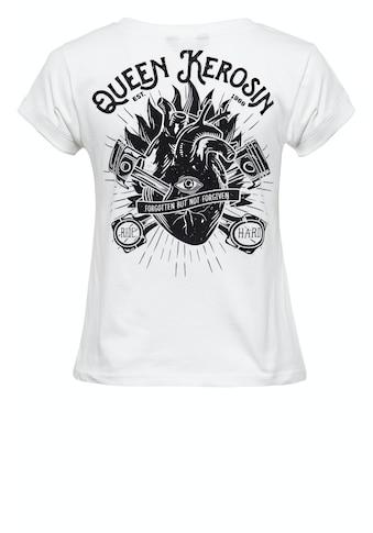 QueenKerosin Print-Shirt »QK Heart«, mit coolem Backprint kaufen