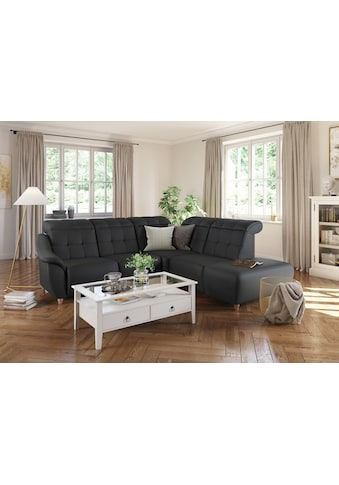 DELAVITA Ecksofa »Bostone«, Kopfteilverstellung an jeder Sitzfläche, wahlweise Relaxfunktion, auch in Leder kaufen
