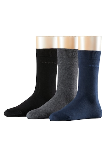 Esprit Socken »Solid-Mix 3-Pack«, (3 Paar), One size fits all (Gr. 36-41) kaufen