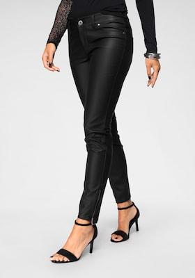 Kunstlederhose für Damen in Schwarz