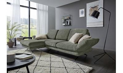 Places of Style Ecksofa »Saletto«, modernes Design, mit Armlehnenfunktion, wahlweise mit Drehsitz und Rückenverstellung kaufen