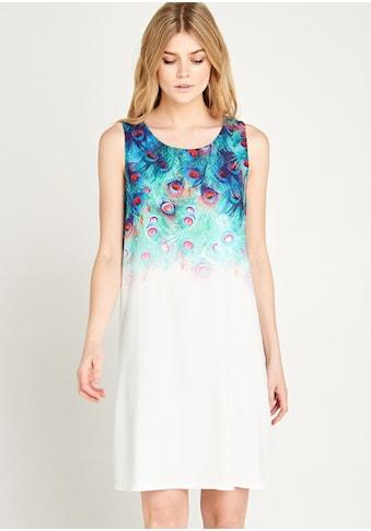 Apricot Druckkleid »Ombre Peacock Shift Dress«, im Druckmix kaufen