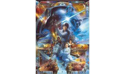Komar Fototapete »Star Wars Luke Skywalker Collage«, bedruckt-Comic, ausgezeichnet lichtbeständig kaufen