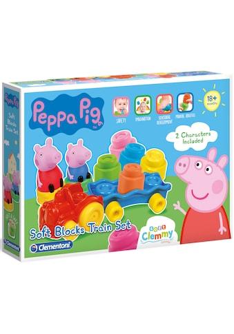 Clementoni® Spielbausteine »Soft Clemmy - Peppa Pig Zug«, (14 St.), Made in Europe kaufen