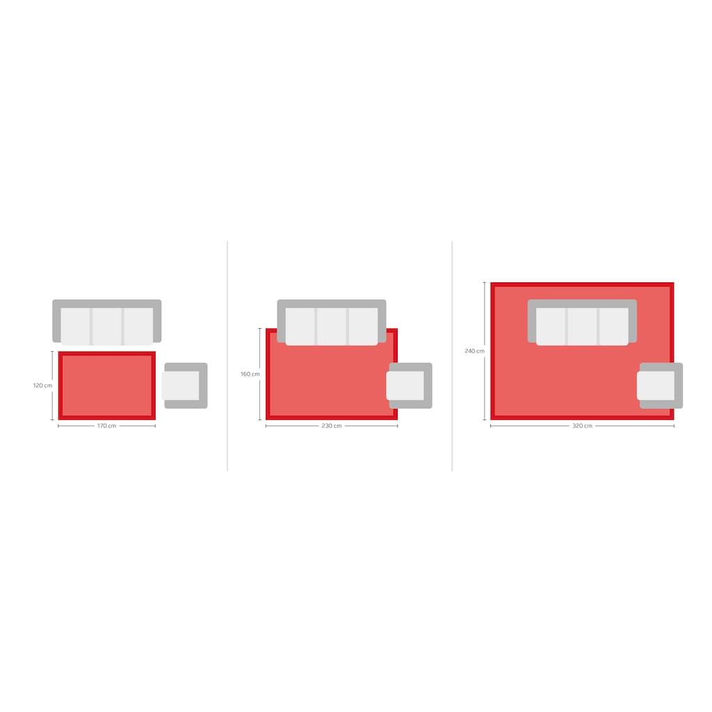 elbgestoeber Teppich »Elbscholle«, rechteckig, 15 mm Höhe, Hoch-Tief-Effekt, Wohnzimmer