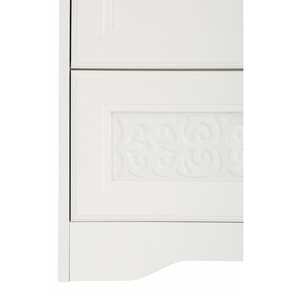 Home affaire Wäscheschrank »Lucy«, 2trg., mit 2 Schubladen, Breite 117 cm