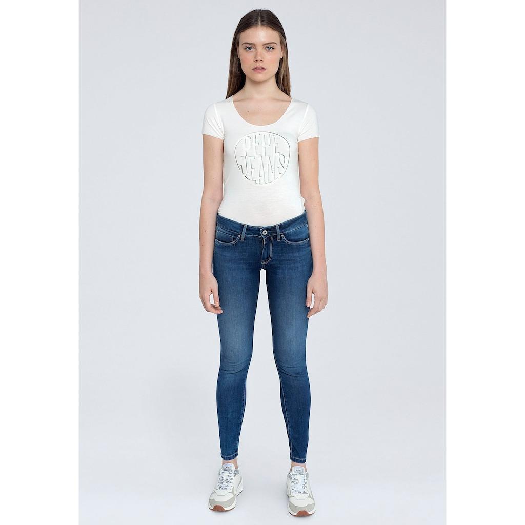 Pepe Jeans Skinny-fit-Jeans »SOHO«, im 5-Pocket-Stil mit 1-Knopf Bund und Stretch-Anteil