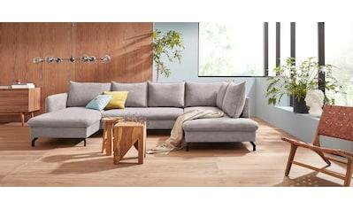 Nova Via Wohnlandschaft, Mit hochwertigem Kaltschaum (140kg Belastung/Sitz) und wahlweise Bettfunktion kaufen