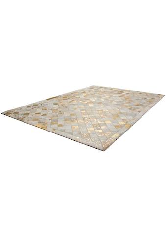 Kayoom Lederteppich »Lavish 210«, rechteckig, 8 mm Höhe, Patchwork-echtes Leder-Fell, Wohnzimmer kaufen