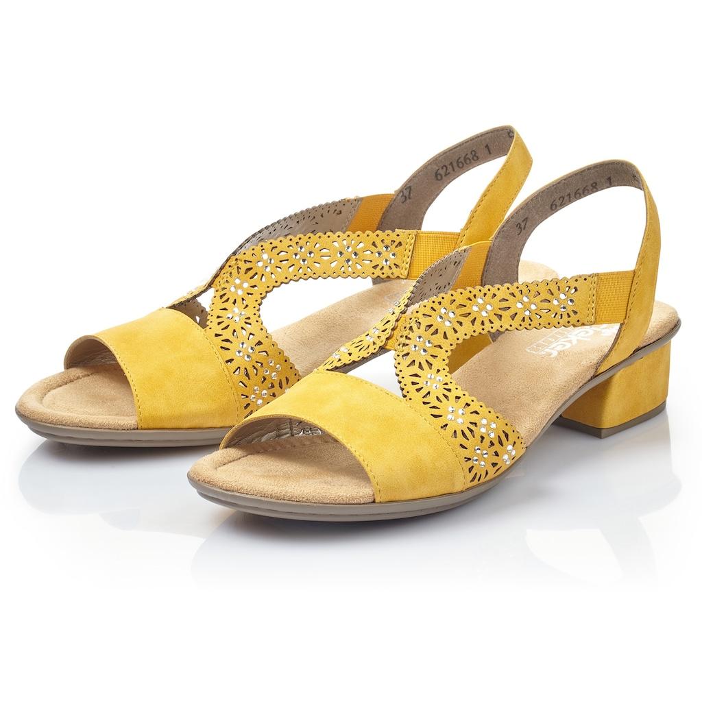 Rieker Sandalette, mit funkelnden Strasssteinchen