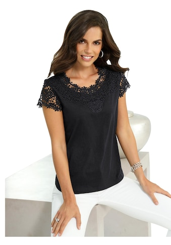Lady Shirt mit eleganter Spitze kaufen