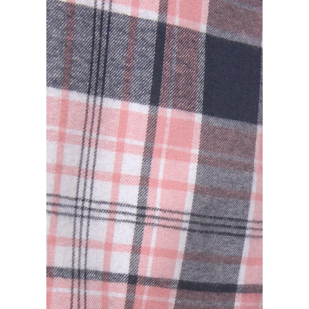 H.I.S Nachthemd, aus Flanell im Karo-Dessin