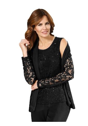 Lady Shirttop mit blickdicht unterlegter Spitze kaufen