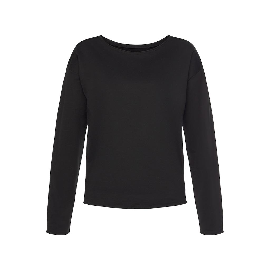 LASCANA Sweatshirt, mit offenen Saumkanten