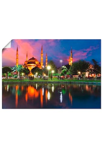 Artland Wandbild »Blaue Moschee in Istanbul - Türkei«, Gebäude, (1 St.), in vielen Größen & Produktarten -Leinwandbild, Poster, Wandaufkleber / Wandtattoo auch für Badezimmer geeignet kaufen
