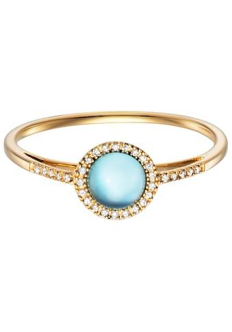 Julie Julsen Diamantring »BLUE TOPAZ, JJGRG0569.BT«, mit Blautopas (behandelt) kaufen