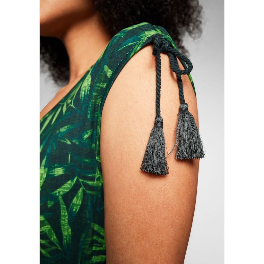 sheego by Joe Browns Sommerkleid, mit Palmendruck, in Zipfelform