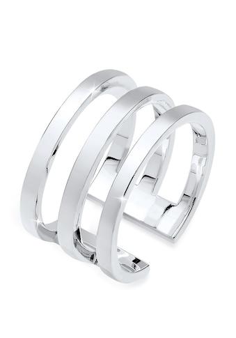 Elli Fingerring »Silberring Breit Schlicht Offen 925 Silber« kaufen