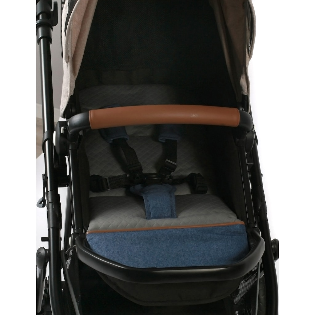 CHIC4BABY Kombi-Kinderwagen »Torre, Jeans Beige«, 15 kg