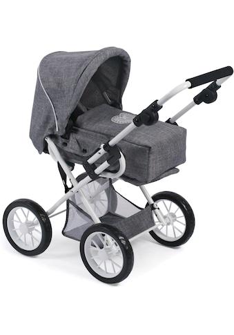 CHIC2000 Kombi-Puppenwagen »Leni, Jeans Grey«, mit herausnehmbarer Tragetasche kaufen