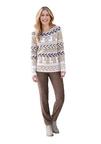 Pullover im Norweger - Jacquard - Muster kaufen