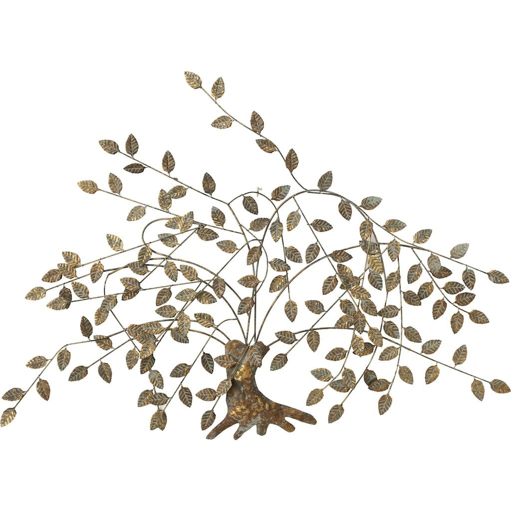 Home affaire Wanddekoobjekt »Juline, goldfarben«, Wanddeko, Wanddekoration, aus Metall, Motiv Baum