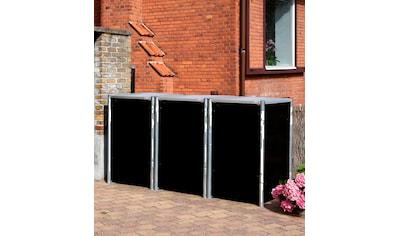 Hide Mülltonnenbox, für 3 x 240 l, schwarz kaufen