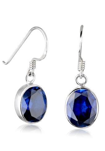 Elli Paar Ohrhänger »Ohrhänger synthetischer Saphir 925 Silber« kaufen