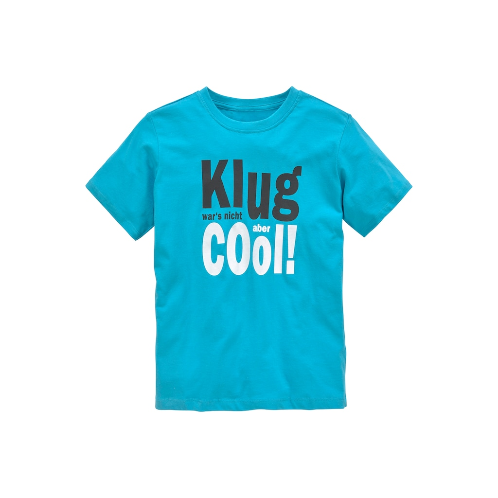KIDSWORLD T-Shirt »KLUG WAR´S NICHT...ABER COOL«