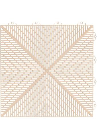 Bergo Flooring Terrassenplatten »Unique Sand«, Kunststofffliesen, einfach ineinanderstecken, 2m² kaufen