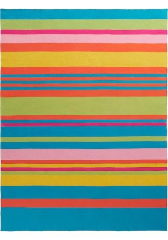 BIEDERLACK Plaid »Colour Blocking«, mit bunten Streifen kaufen