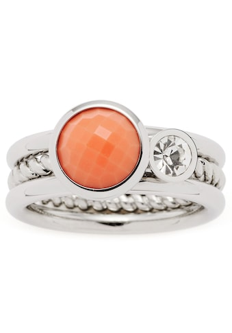 LEONARDO Ring-Set »Letizia, 017917, 18, 19«, (Set, 2 tlg.), mit Glas- und Kristallstein kaufen