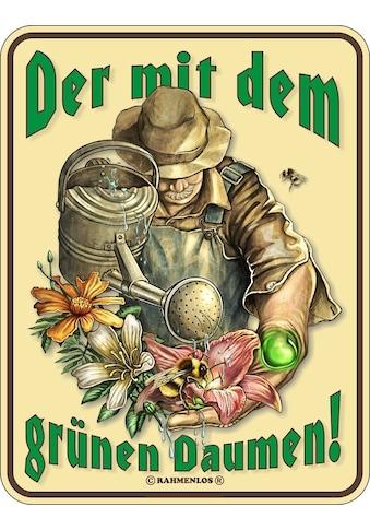 Rahmenlos Blechschild für den passionierten Gärtner kaufen