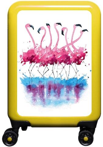 meinTrolley Hartschalen-Trolley »Flamingo im Wasser, 55 cm«, 4 Rollen, Made in Germany kaufen