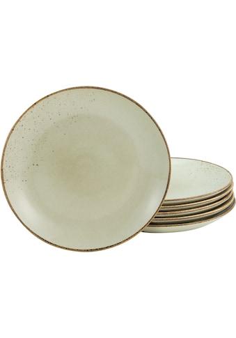 CreaTable Dessertteller »NATURE COLLECTION«, (Set, 6 St.), Ø 21 cm, Steinzeug kaufen