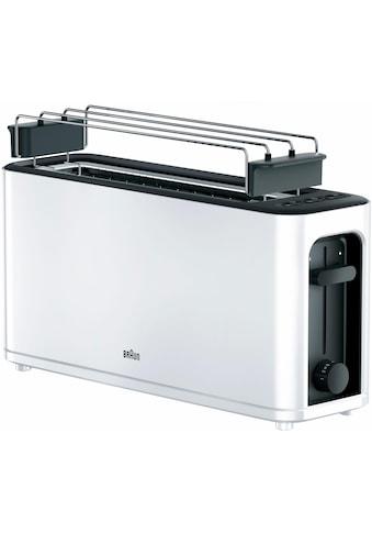 Braun Toaster »HT 3110 WH«, 1 langer Schlitz, für 2 Scheiben, 1000 W kaufen