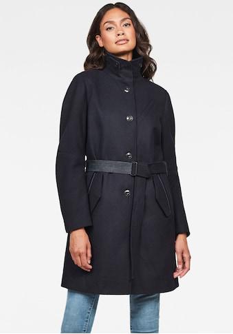 G-Star RAW Kurzmantel »Empral Wool Trenchcoat«, Mantel mit Gürtel und Stehkragen kaufen