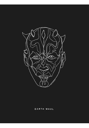 Komar Poster »Star Wars Lines Dark Side Maul«, Star Wars kaufen