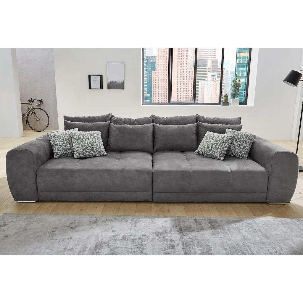 Jockenhöfer Gruppe Big-Sofa »Sam«, inklusive loser Rücken- und Zierkissen, frei im Raum stellbar